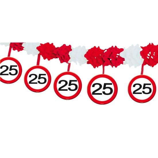 25 jaar slinger verkeersbord