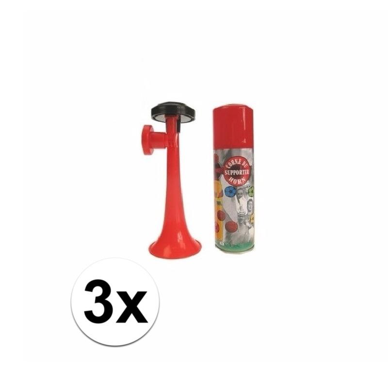 3 gas toeters 70 ml