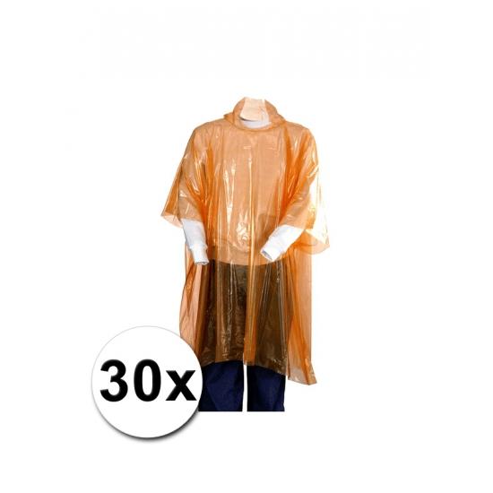 30 Oranje regen ponchos