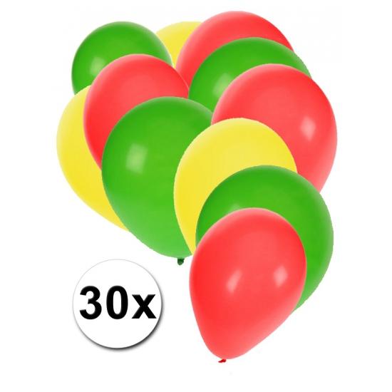 30 stuks ballonnen kleuren Ghana