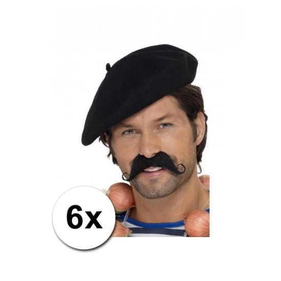 6 Franse baretten deluxe