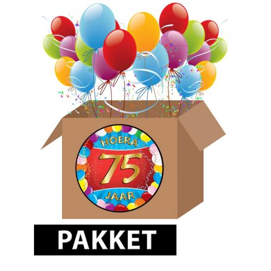 75 jaar party artikelen pakket