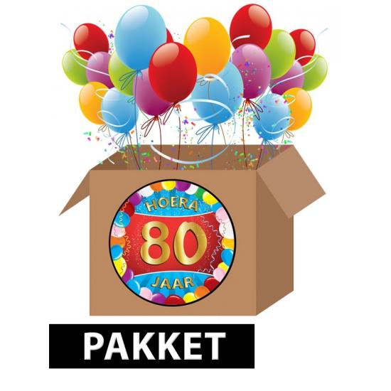 80 jaar party artikelen pakket