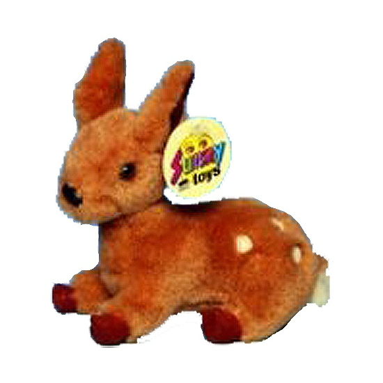 Baby hert knuffel staand 15 cm