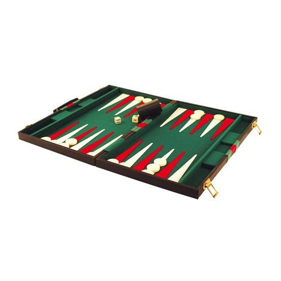 Backgammon spel in koffer