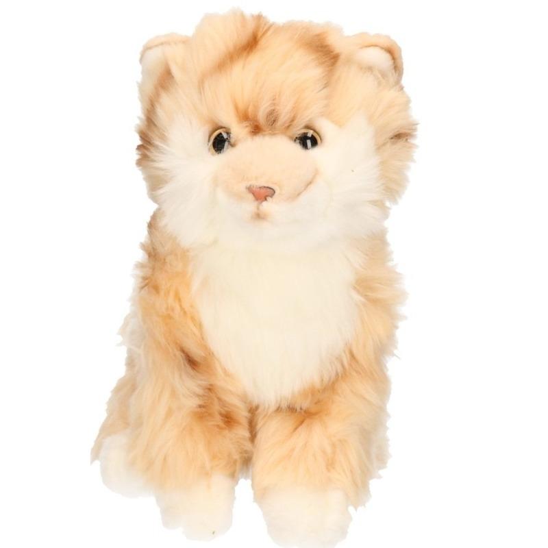 Beige Cyprese katten knuffel
