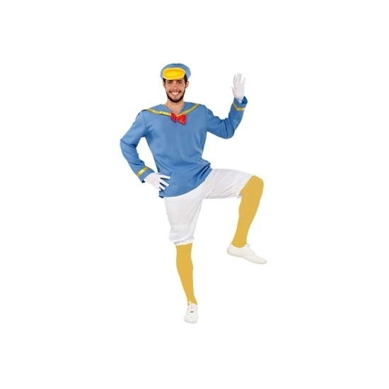 Blauw eendje kostuum voor heren