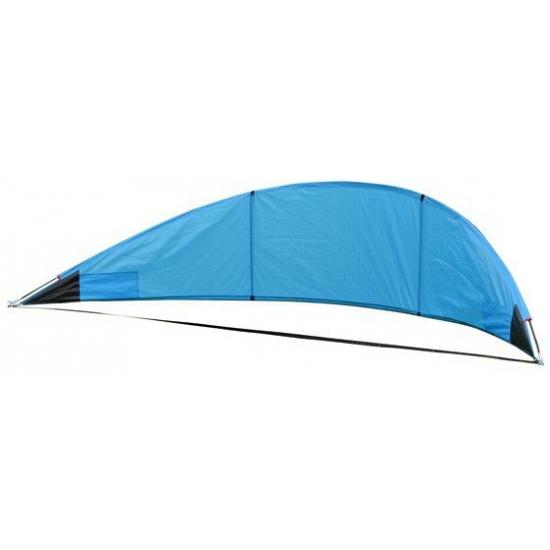 Blauw windscherm 310 x 70 cm