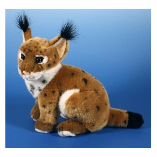 Bruine lynx knuffeltje 25 cm