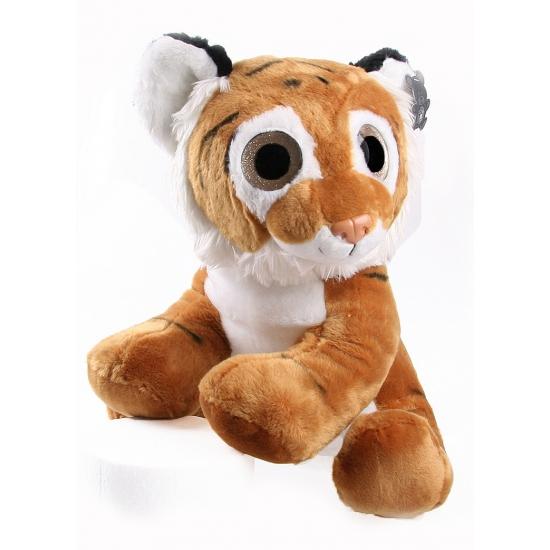 Bruine tijger knuffel 40 cm groot