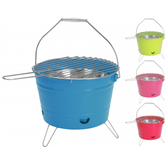 Camping barbecue emmer roze 28 cm