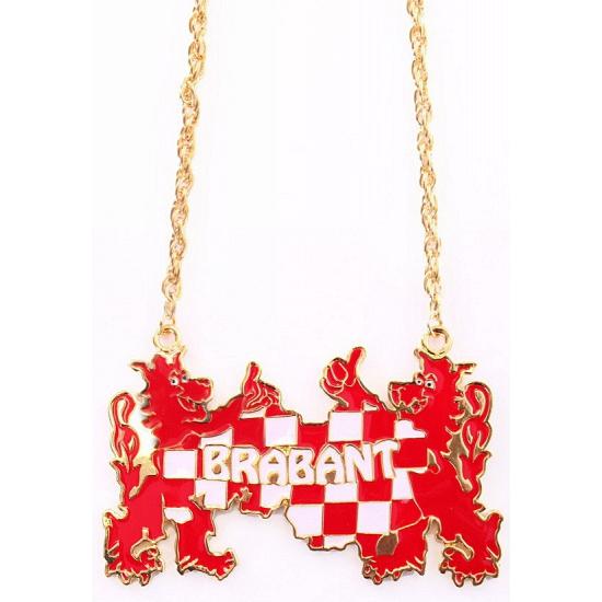Ketting wapen van brabant. gouden ketting met daaraan het wapen van brabant. afmeting van de brabant hanger ...