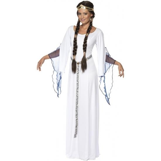 Dames middeleeuws Grieks kostuum wit