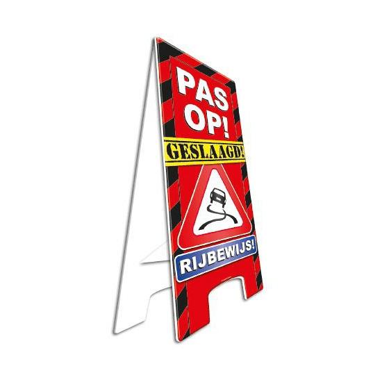 Decoratie bord geslaagd rijbewijs