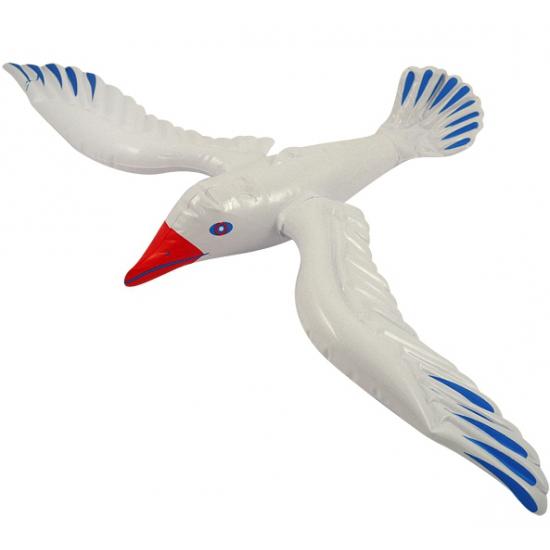 Dieren opblaas speelgoed vogel 76 cm