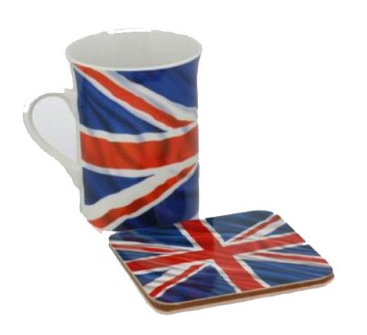 Engeland beker en onderzetter