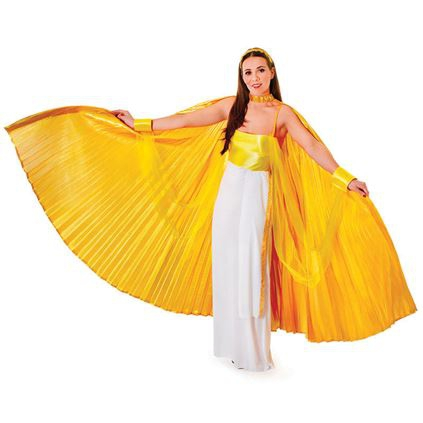 Extra grote gouden vleugels