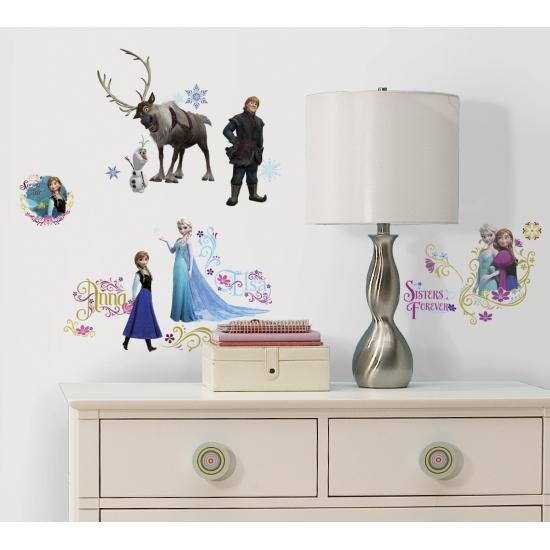 Frozen decoratie muurstickers 36 stuks