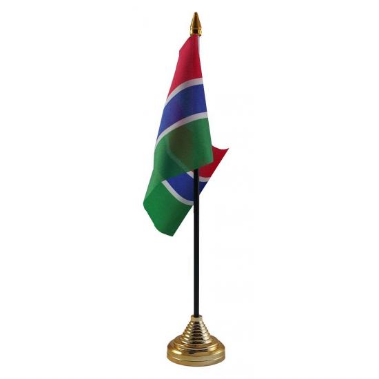 Gambia vlag met standaard