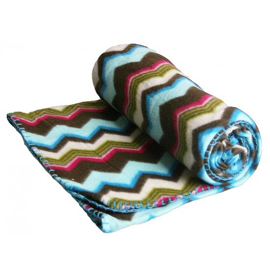 Gekleurde deken met zigzag strepen