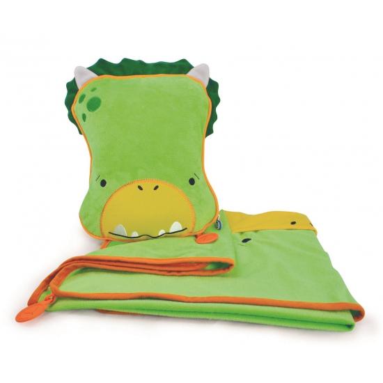 Groene draken slaapset Dudley voor kids (bron: Partyshopper)