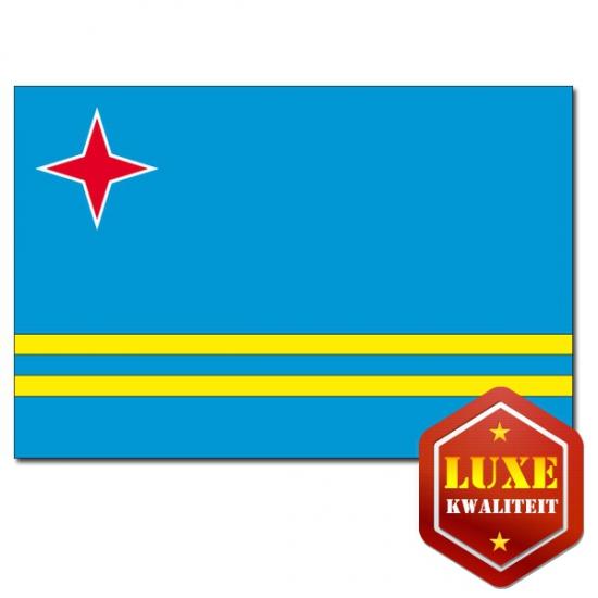 Grote luxe landen vlag Aruba