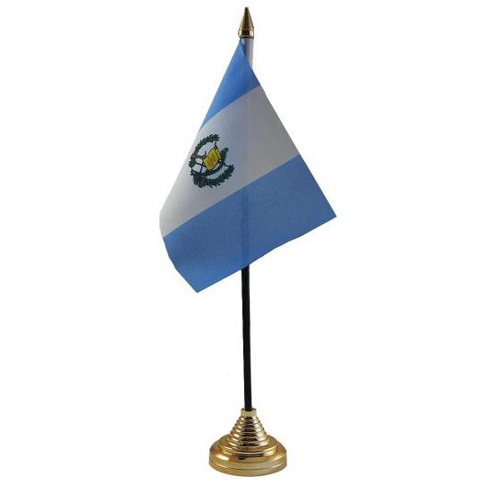 Guatemala vlag met standaard