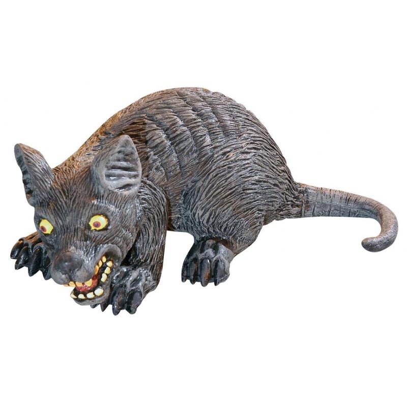 Halloween decoratie rat 32 cm