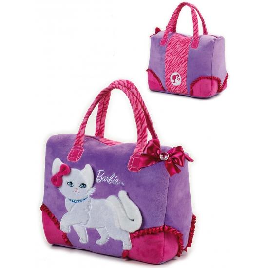 Handtas met witte poes afbeelding