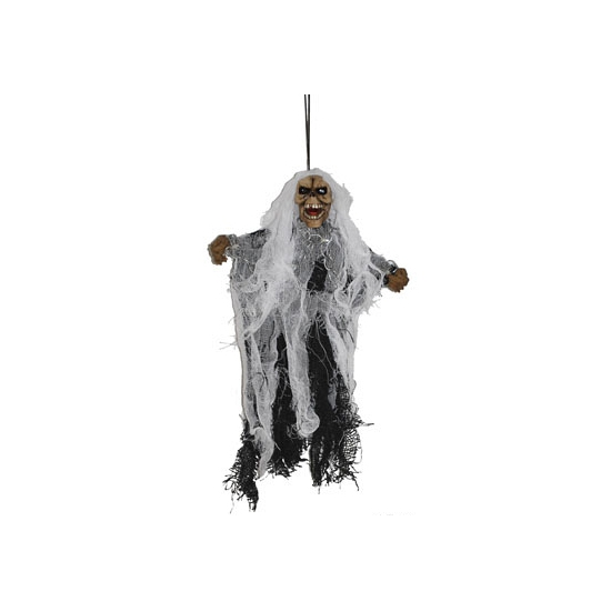 Hangende spookje aan touw 25 cm