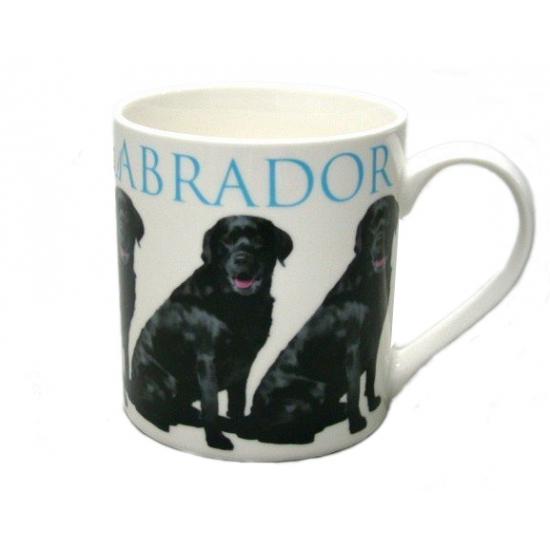 Honden mok zwarte Labrador