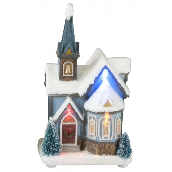 Kerst kerk decoratie huisje