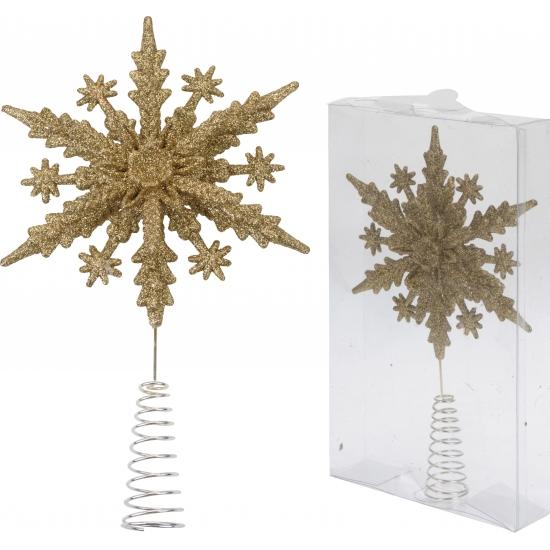 Kerstboom piek gouden ster