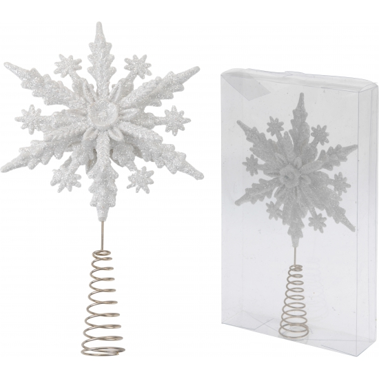 Kerstboom piek witte ster