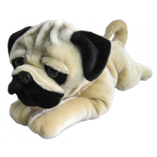 Knuffeldier hond Mopshond 61 cm