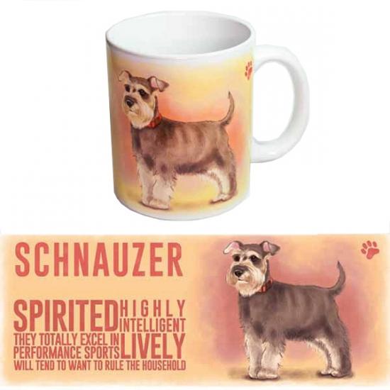 Koffie mok schnauzer. een lekker grote koffie of thee mok met de ...