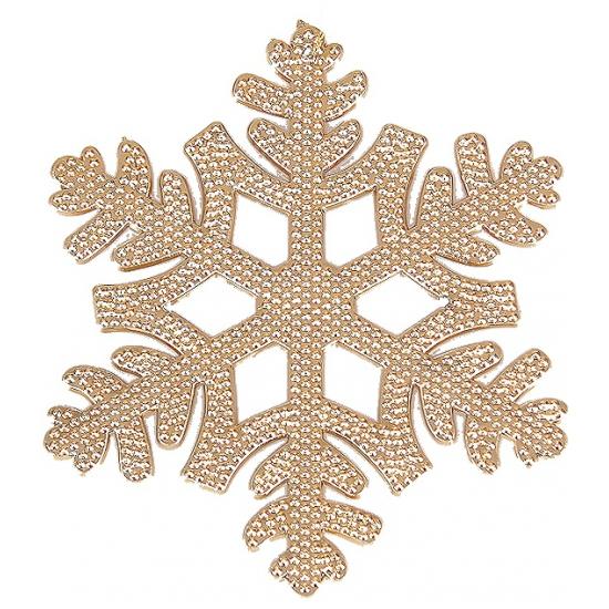 Koperen sneeuwvlok hangertje 10 cm