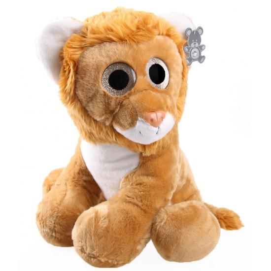 Leeuwen knuffel met glitter ogen 40 cm