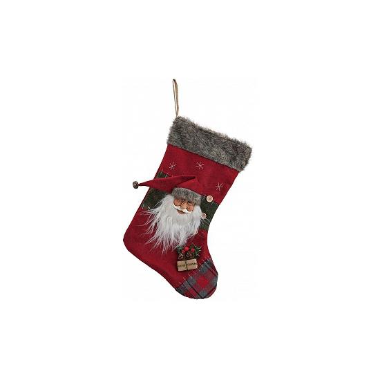 Luxe kerstman kerstsok 44 cm