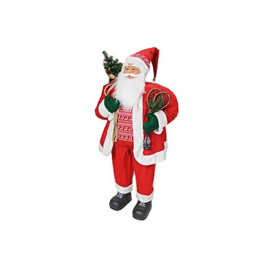 Luxe Kerstman pop 122 cm