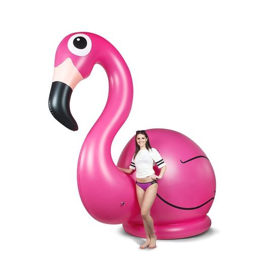 Mega opblaasbare flamingo 305 cm