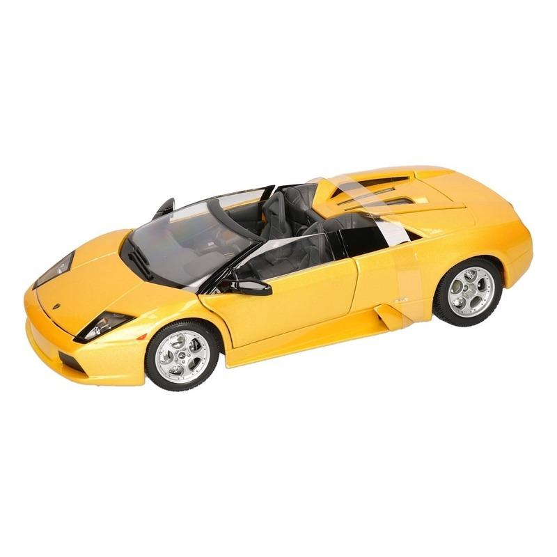 Model auto Lamborghini Murcielago Roadster geel