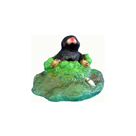 Mollen tuinbeelden van plastic 20 cm