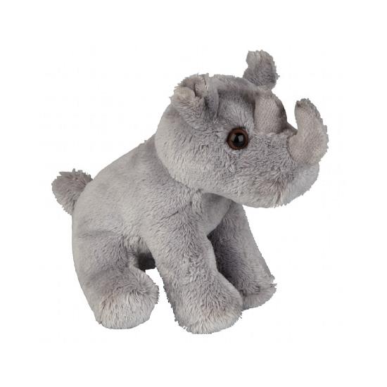 Neushoorn knuffel zittend 15 cm