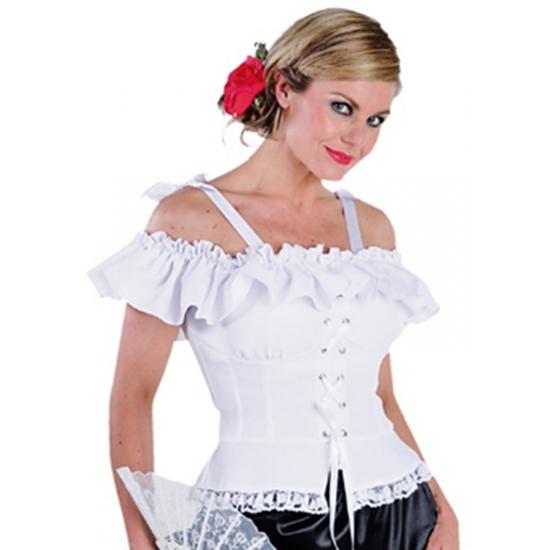Oktoberfest blouse Carmen wit