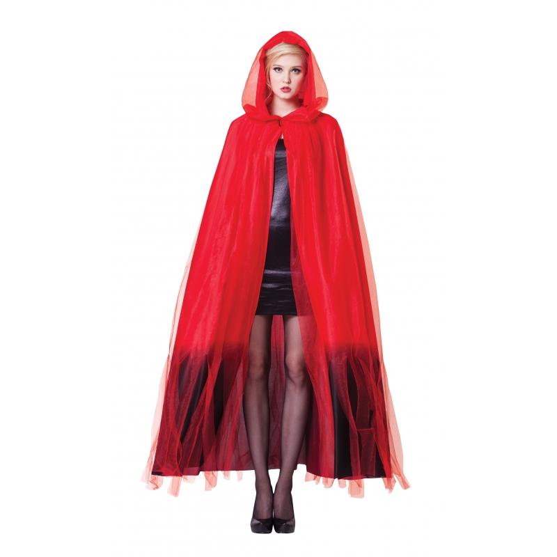 Ombre Halloween cape voor volwassenen