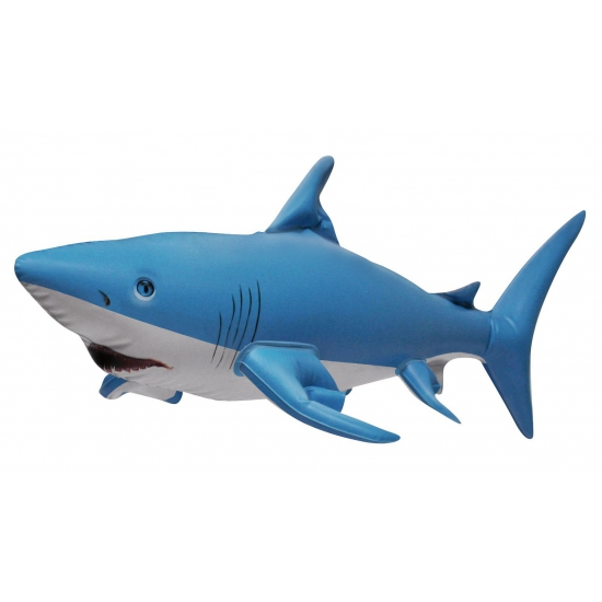 Opblaasbare blauwe haai 61 cm