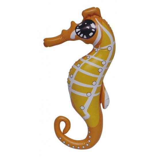 Opblaasbare oranje zeepaard 51 cm