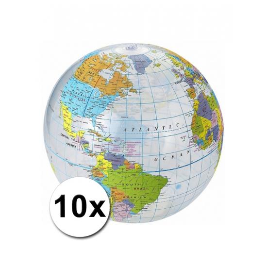 Opblaasbare strandballen Aarde 10x