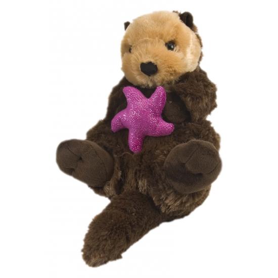 Otter met zeester knuffel 38 cm